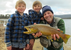 The boys were hoping for a redfin but all I could catch was this silly old trout!